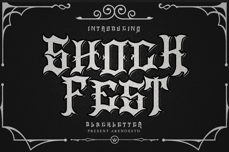 Shockfest Blackletter example image 1