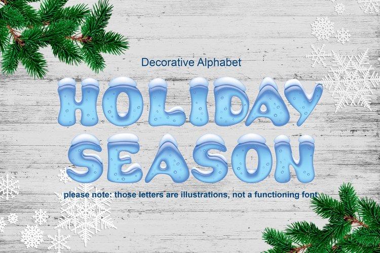 Holiday Season - ice font example image 1