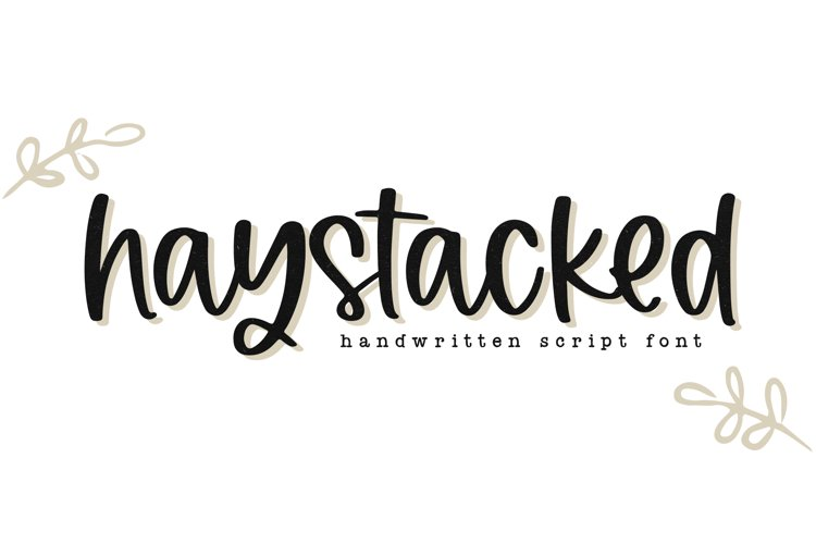 Haystacked - A Handwritten Script Font