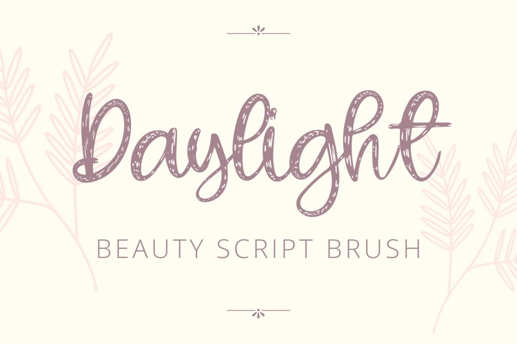 Daylight - Beauty Script Brush example image 1