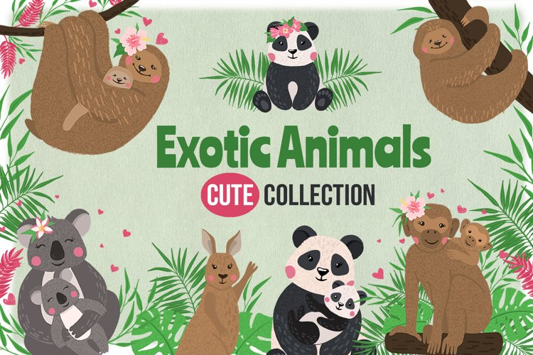 Vector Exotic Animals Collection example image 1