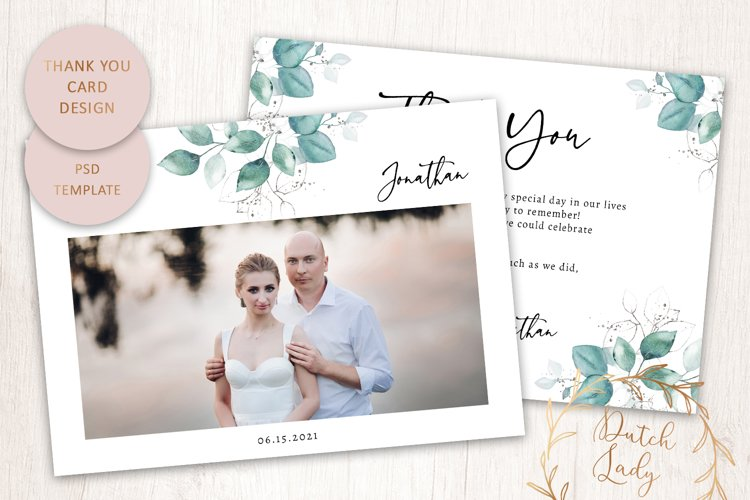 PSD Thank You Photo Card Template - Double Sided - #1