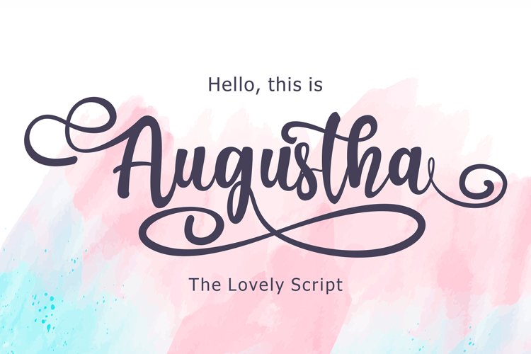 Augustha - Lovely Script example image 1