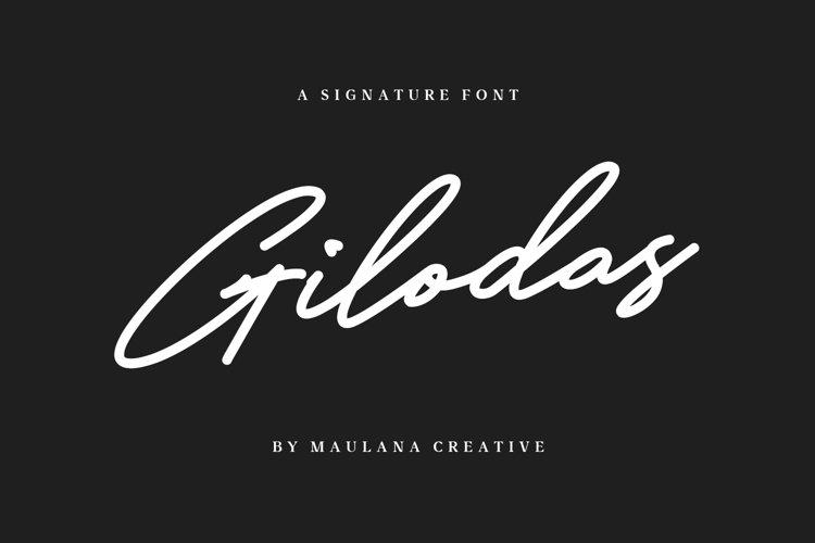 Gilodas Signature Font example image 1