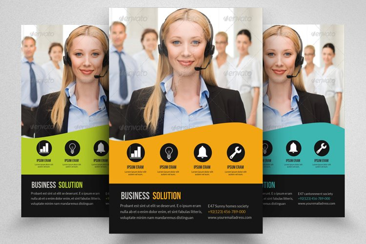 Business Corporate Help Centre Flyer example image 1