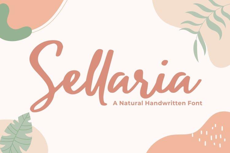 Sellaria - Handwritten Font example image 1