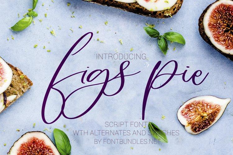 Figs Pie Script Font example image 1