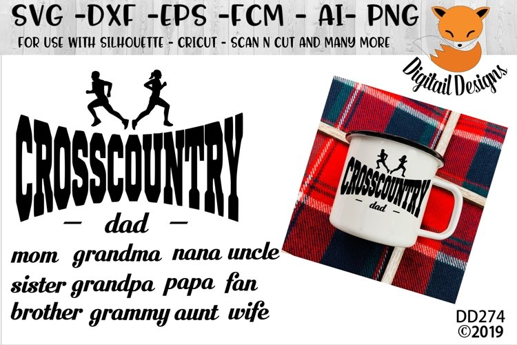 Cross Country Family Running SVG