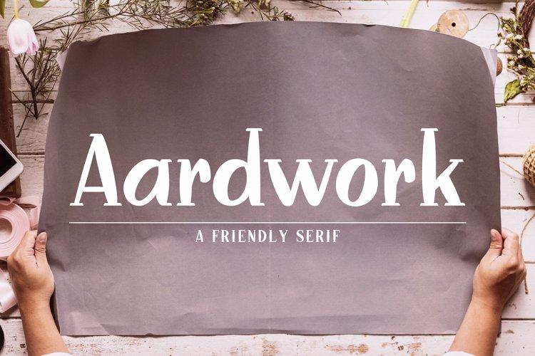 Aardwork - A Friendly Serif