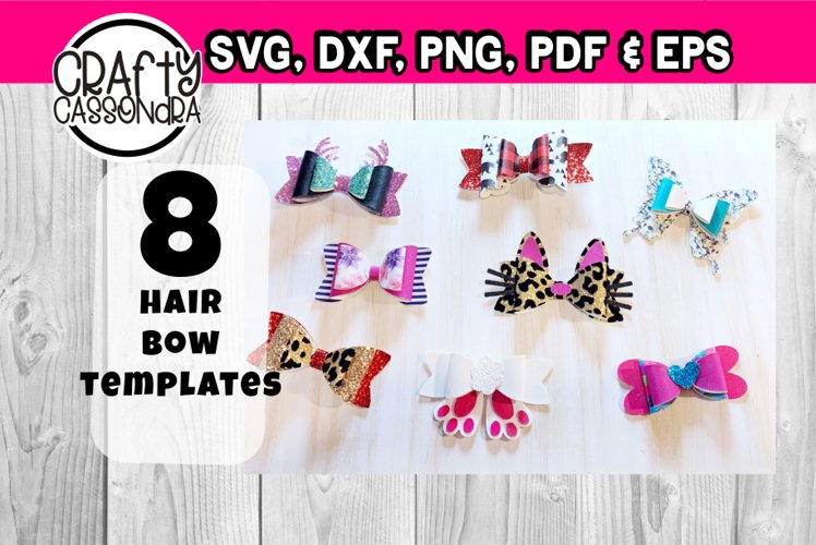 Hair bow template bundle #1 - diy hair bows - svg for bows example image 1