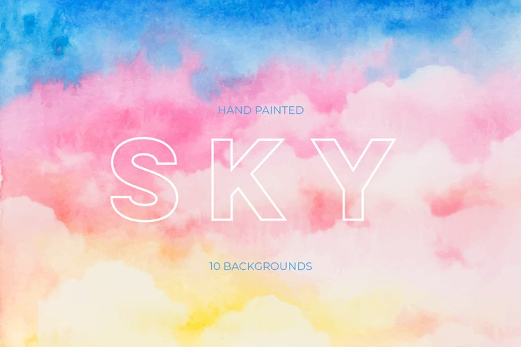 Hand painted SKY Backgrounds