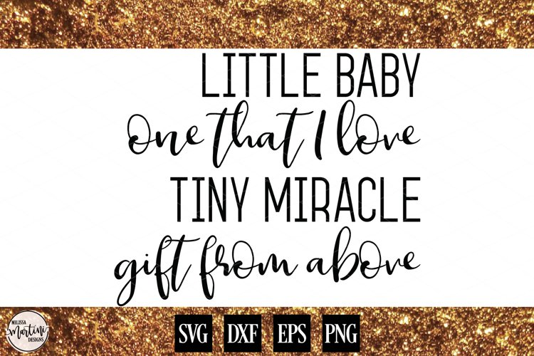 Little Baby, One That I Love Baby Quote  example image 1