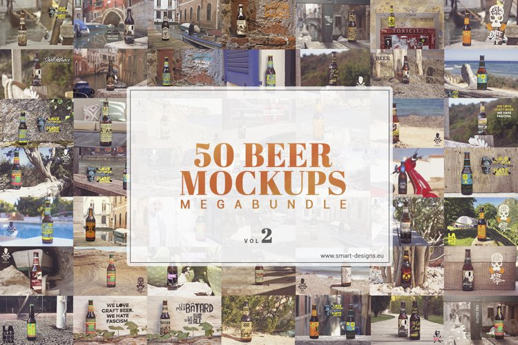 50 Beer Mockups Bundle Vol. 2 example image 1