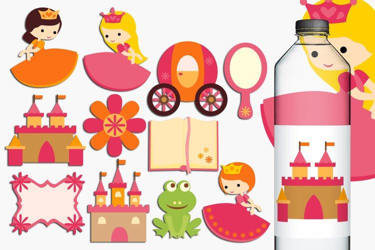 Princess Illustration, pink orange example image 1