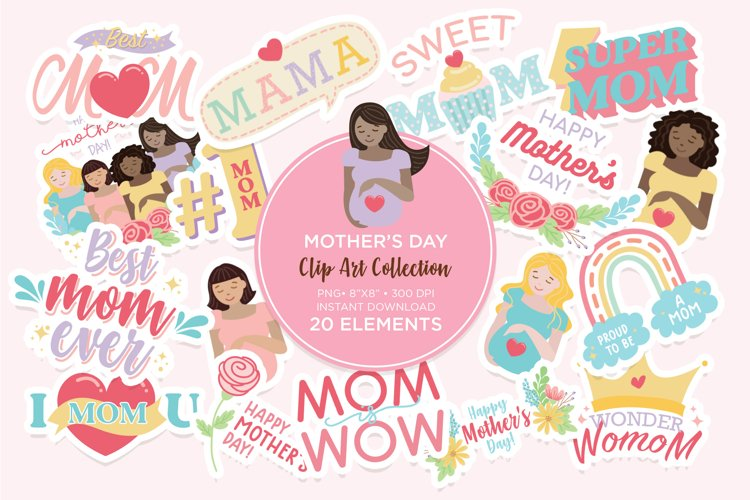 Mothers Day Clip Art Digital Sticker