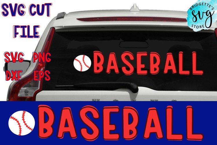 Baseball SVG Cut File