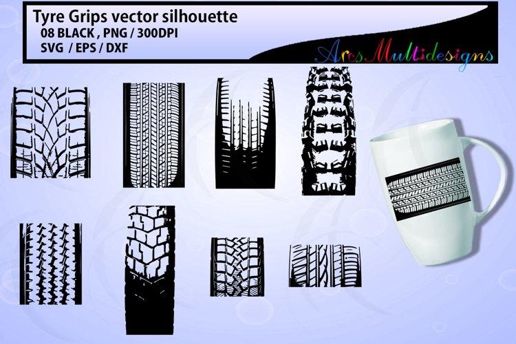 Tyre grip SVG vector clipart / cute tyre grip clipart / tyre clipart / tyre grip silhouette / EPS / SVG / DXF