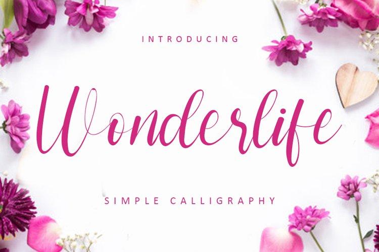 Wonderlife - Web Font example image 1