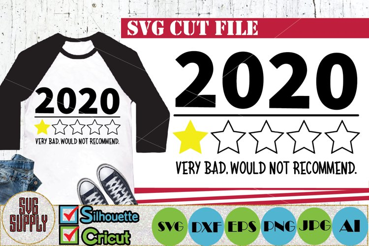 2020 Review Very Bad Would Not Recommend 1 Star Rating SVG