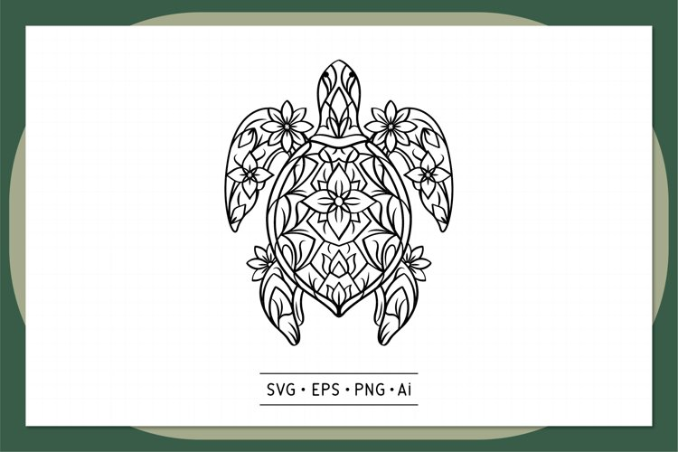 Turtle Mandala , Animal Mandala SVG - 0004