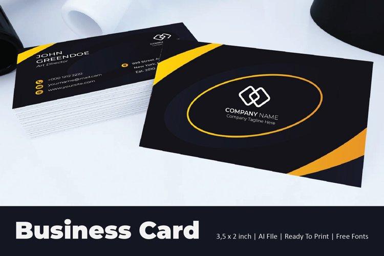 Spiral Blue Business Card Template