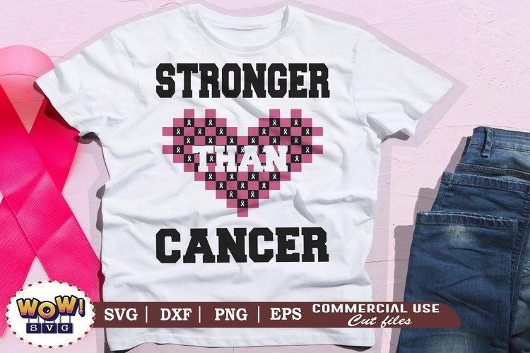 Stronger than cancer svg, Breast Cancer svg, Cancer svg example image 1
