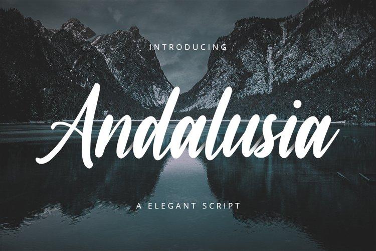 Andalusia // A Elegant Script Font example image 1