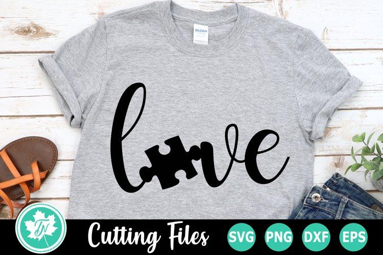 Love Puzzle Piece An Autism Awareness Svg Cut File 227595 Cut Files Design Bundles