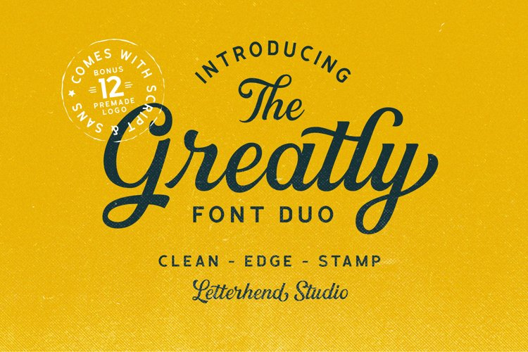 Greatly Font Duo Logo Templates example image 1