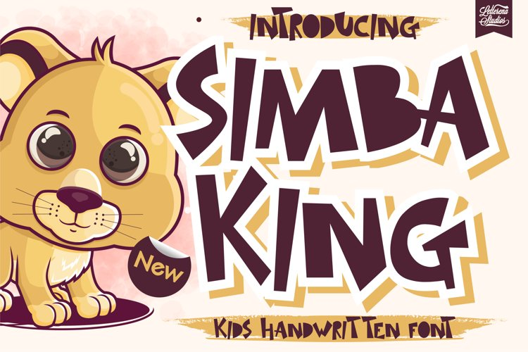 SIMBA KING - Quirky Handwritten Font example image 1