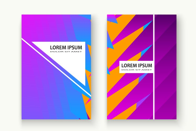Minimal cover design.Blue pink halftone gradient Abstract bg example image 1