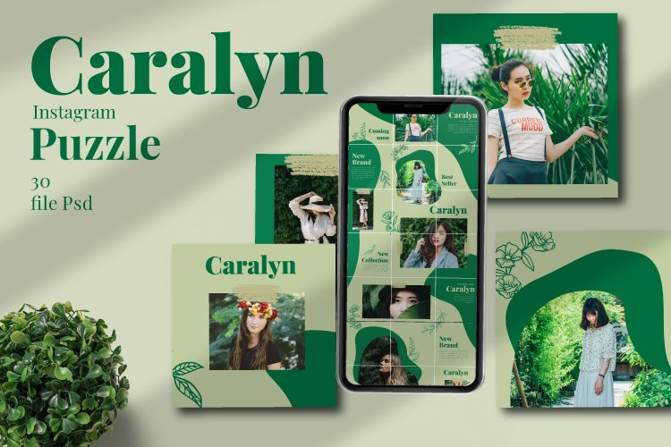 Caralyne Instagram Puzzle Template example image 1