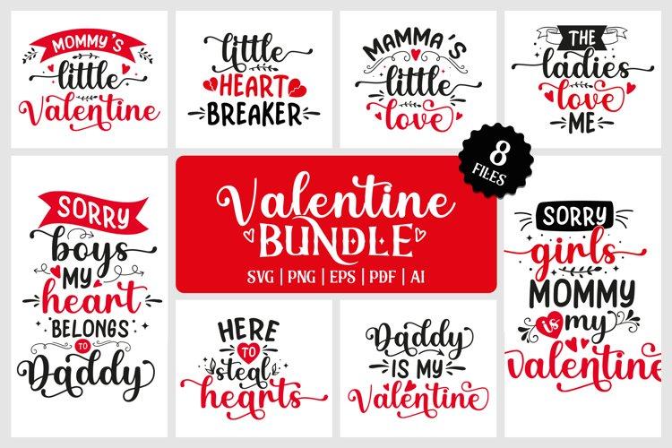 Valentine SVG Bundle V2  8 files example image 1