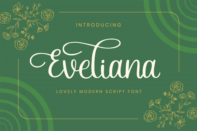 Eveliana - A Lovely Script Font example image 1