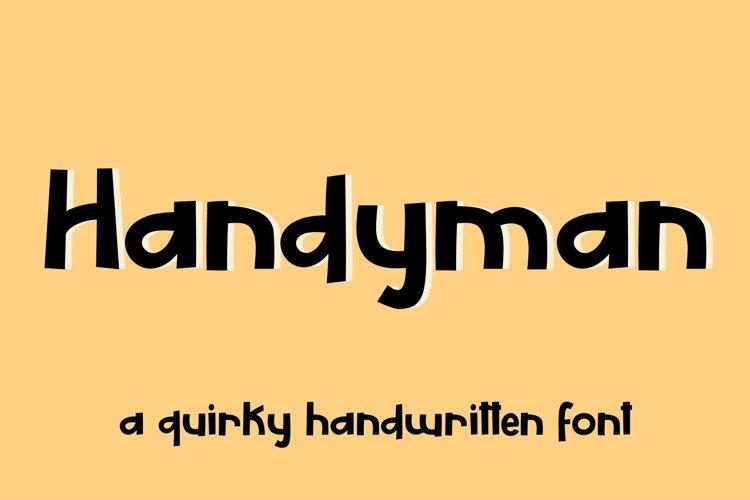 Web Font Handyman - a display font example image 1