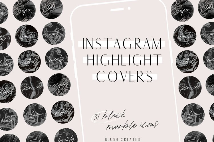 Marble Instagram Highlight Cover Icons