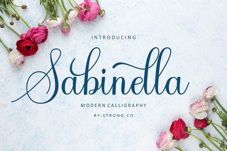 Sabinella script example image 1