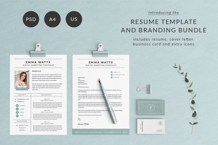 Resume Template & Branding Bundle