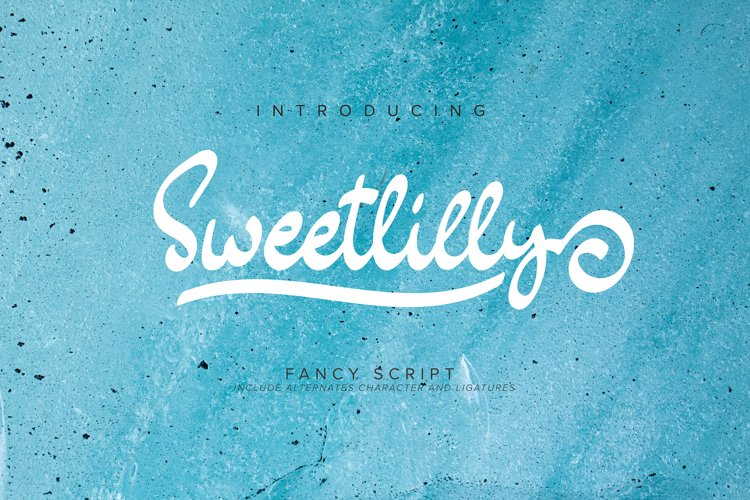 Sweetlilly   Fancy Script example image 1