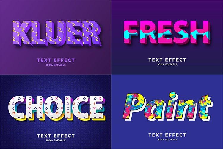 Modern text effect for illustrator vol 11