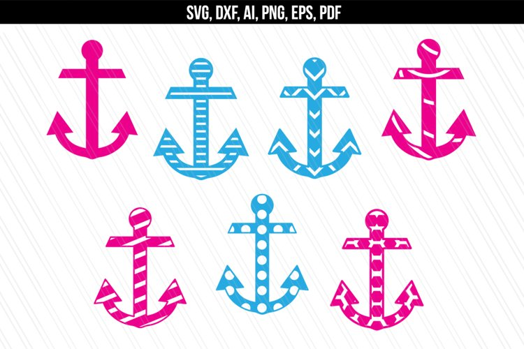 Anchor Nautical svg dxf files example image 1