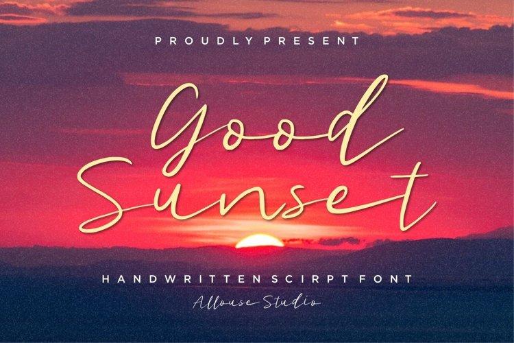 Web Font - Good Sunset - Handwritten Script Font example image 1