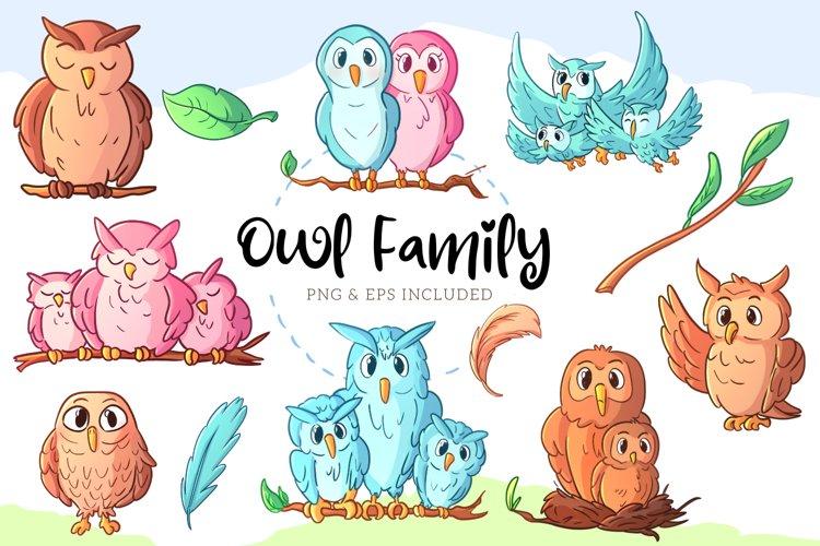 Owl Family Illustrations