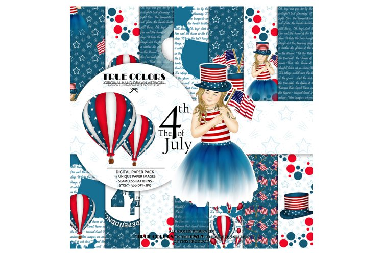 Independence Day Paper Pack Fashion Illustration Planner example image 1