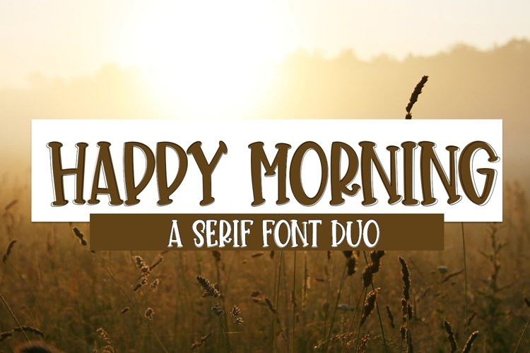 Web Font Happy Morning - A Cute Hand-Lettered Font Duo example image 1