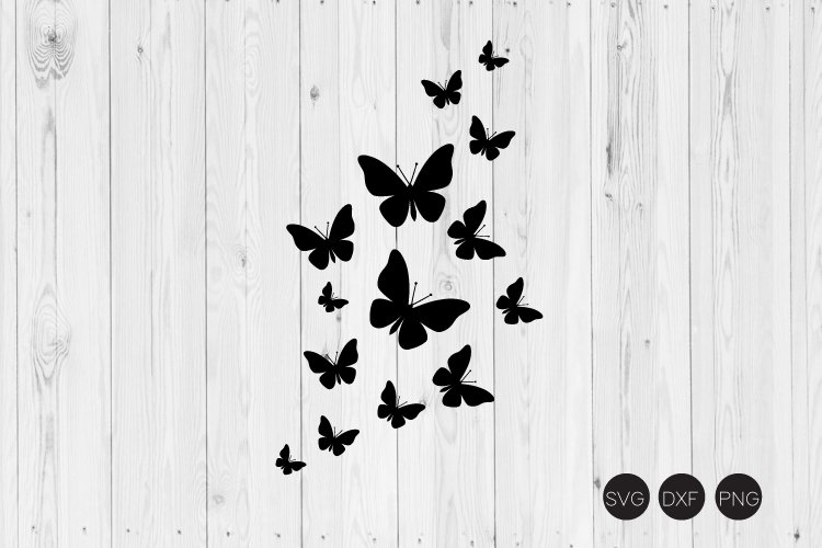 Fluttering Butterfies SVG, Butterfly SVG, DXF, PNG Cut Files