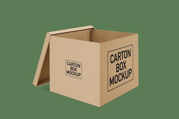 Carton Box Mockup example image 1