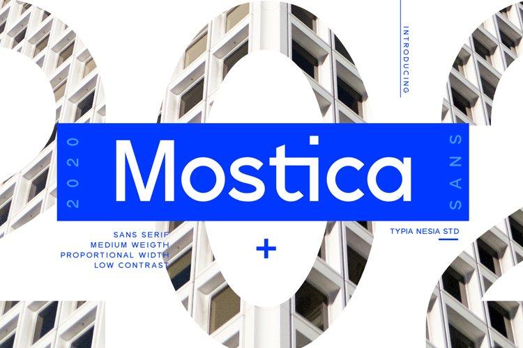 Mostica Medium Sans example image 1
