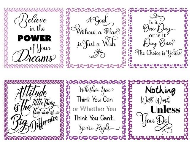 Social Media Graphics - Set 1 Purple
