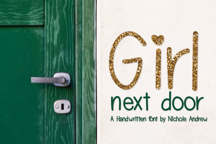 Girl Next Door, A handwritten font example image 1